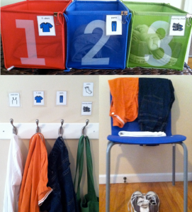 Sensory Organizing - Dressing Stations